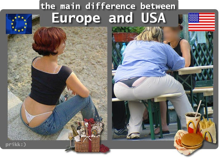 DIfference Between Europe And America