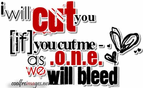 Emo - I Will Cut You If You Will Cut Me..