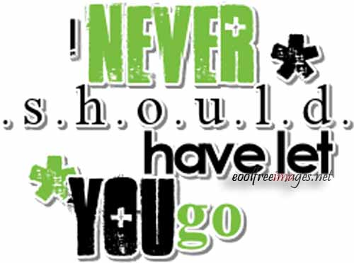 Never Should Have Let You Go