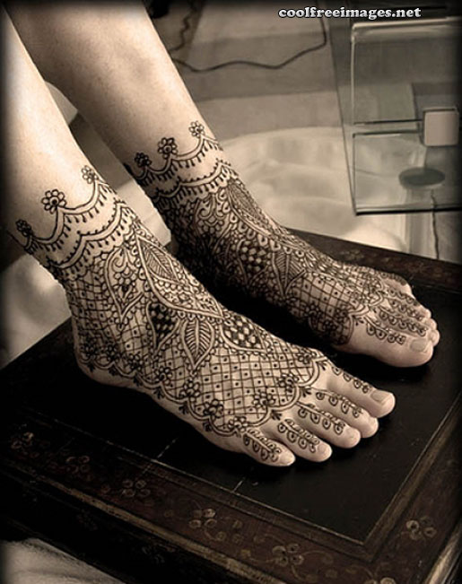 Best Feet Mehndi Design Images