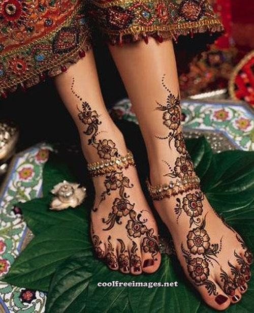 Best Feet Mehndi Design Graphics