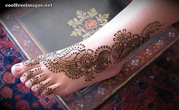 Online Free Feet Mehndi Design Pictures