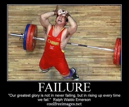 Failure. Our greatest glory is not in never failing, but in rising up everytime we fail. Ralph Waldo Emerson - Free Inspirational Sports Quotes Pictures